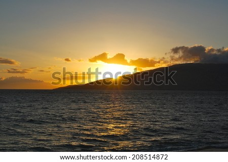 Maui Sunset - stock photo