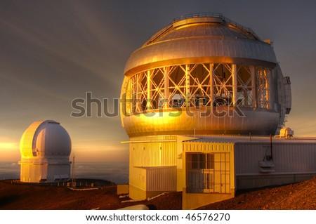Mauna Kea Geminy Telescope - stock photo