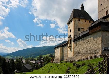 Mauterndorf medieval castle in Austria - stock photo