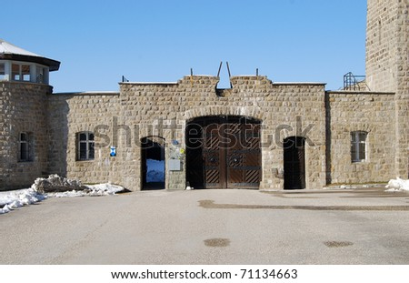 Mauthausen, death camp - stock photo