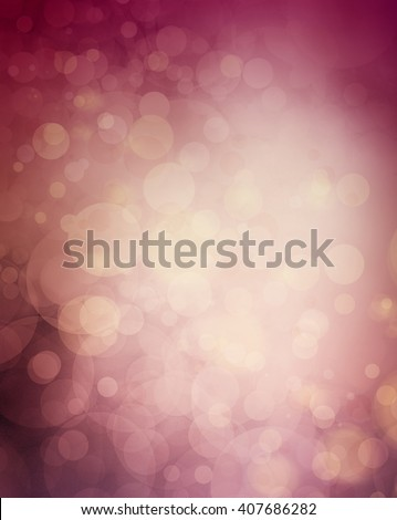 mauve and burgundy pink with violet purple wine colors in bokeh blurred background, elegant luxury background with floating bubbles or round circle shapes shining in the sunset sky light - stock photo