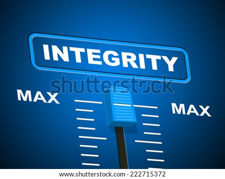 Infographic Ideas infographic definition of integrity : Reliability Definition Button Shows Trust Quality Stock ...