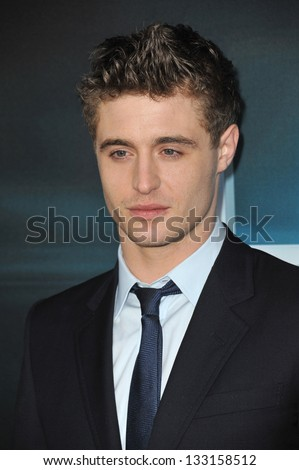 "Max Irons (son of Jeremy Irons) at the Los Angeles premiere of his movie ""The Host"" at the Cinerama Dome, Hollywood. March 19, 2013  Los Angeles, CA Picture: Paul Smith"