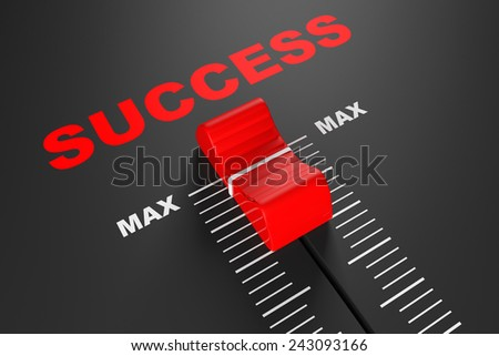 Max Success Value Mixer Slider extreme closeup - stock photo