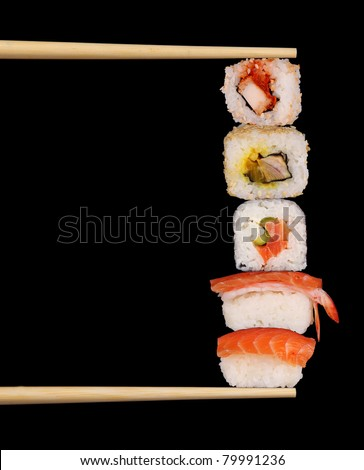 Maxi sushi - stock photo
