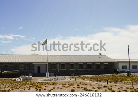Maximum Security Prison on Robben Island - Cape Town - South Africa - stock photo