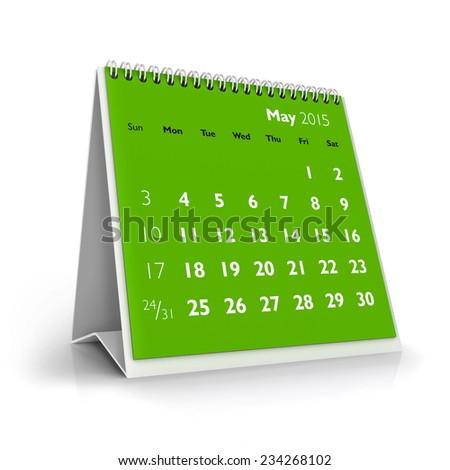 May 2015 Calendar - stock photo