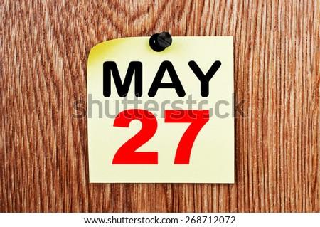 May 27 Calendar. Part of a set - stock photo