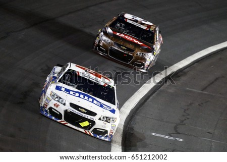 May 29, 2017 - Concord, NC, USA: Jimmie Johnson (48) brings his car through the turns during the Coca Cola 600 at Charlotte Motor Speedway in Concord, NC.