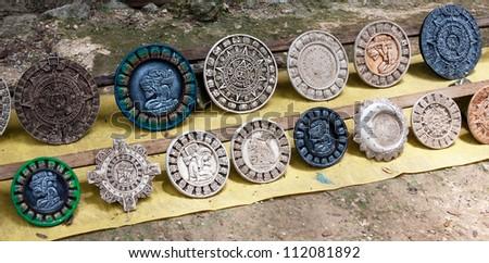 Maya calendars in Chichen Itza - Yucatan, Mexico - stock photo