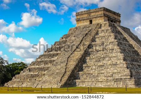 Maya Pyramid, Chichen Itza, Mexico - stock photo