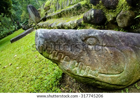 Mayan archaeological sites - stock photo