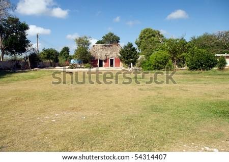 Mayan House - stock photo