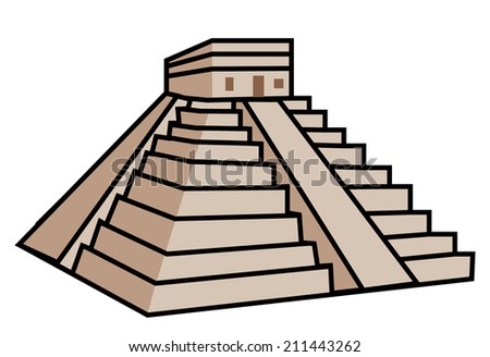 Mayan Pyramid - stock photo
