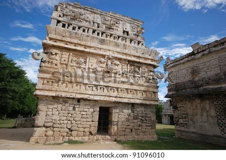 Mayan pyramid in Chichen Itza - Mexico - stock photo