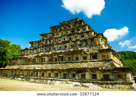 Mayan Pyramid in El Tajin, Mexico