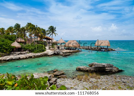 Mayan Riviera Paradise - stock photo