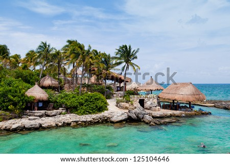 Mayan Riviera Paradise in Mexico - stock photo