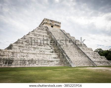 Mayan Ruin, Chichen Itza Mexico - stock photo