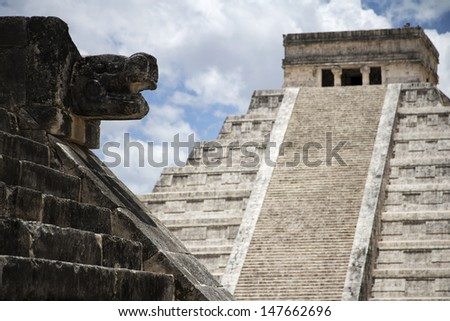 Mayan ruins from the past, Mayan religion and civilization - stock photo