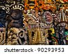 Mayan Wooden Masks for Sale - stock photo