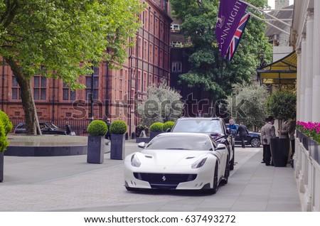 MAYFAIR LONDON 9 MAY 2017 Expensive Stock Photo (Royalty Free ...