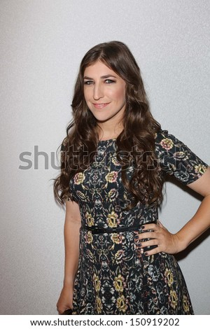 Mayim Bialik at the 12th Annual InStyle Summer Soiree, Mondrian, West Hollywood, CA 08-14-13 - stock photo
