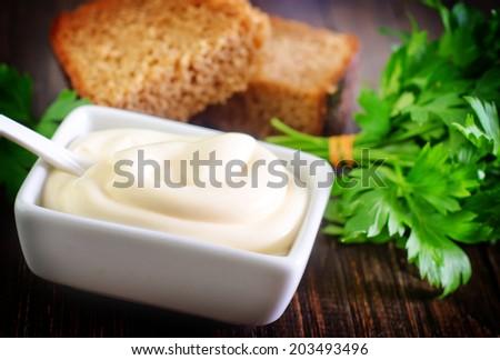 mayonnaise - stock photo