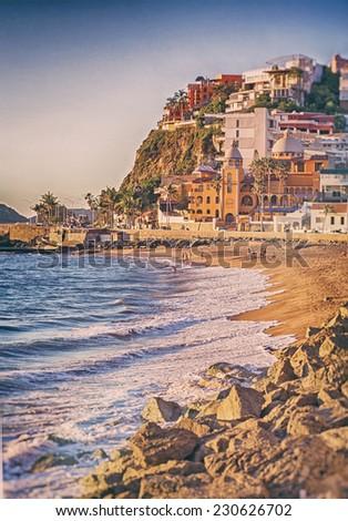 Mazatlan Beach Scene - stock photo