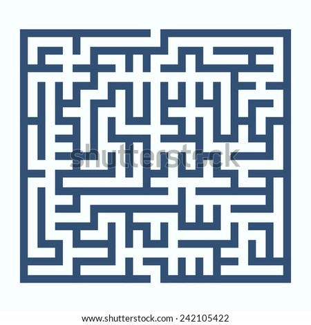 maze game illustration isolated on white background
