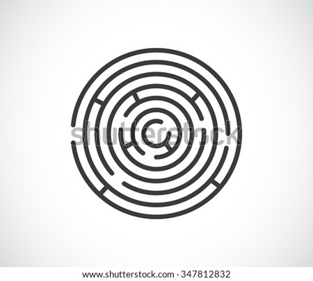 maze labyrinth abstract icon - stock photo