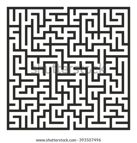 Maze. Labyrinth with Entry and Exit. Find the Way Out Concept. Transportation. Logistics Abstract Background Concept. Business Path Concept. - stock photo