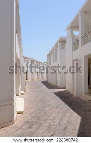 maze of identical houses - stock photo