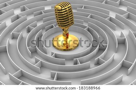 Maze to Microphone - stock photo