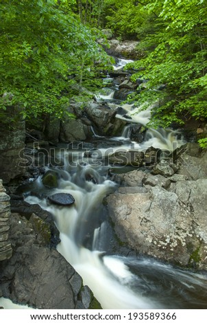 Mc Aurthur Burney falls in the Mt Sastha Region - stock photo