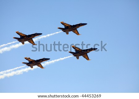 MCAS MIRAMAR, CA - OCTOBER 3: Blue Angels squadron Air Show October 3, 2009 on MCAS Miramar, CA