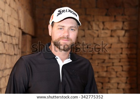 MCFADDEN, BRIAN - NOVEMBER 15: Singer-songwriter and TV presenter Playing at Gary Player Charity Invitational Golf Tournament posing for picture on November 15, 2015, Sun City, South Africa.  - stock photo