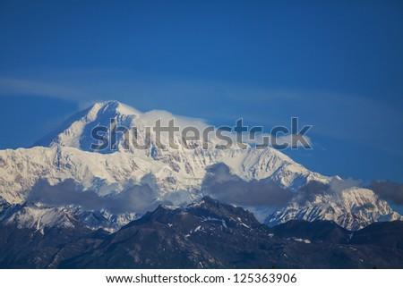 McKinley peak, Alaska - stock photo