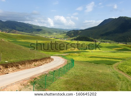 Meadow Mountain Highway - stock photo