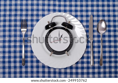 Meal time concept  - stock photo