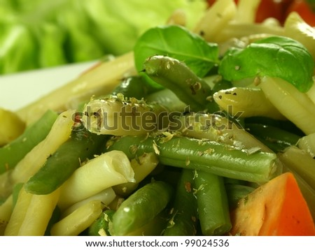 Meal with mixed vegetables - stock photo