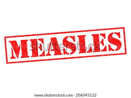 MEASLES red Rubber Stamp over a white background. - stock photo