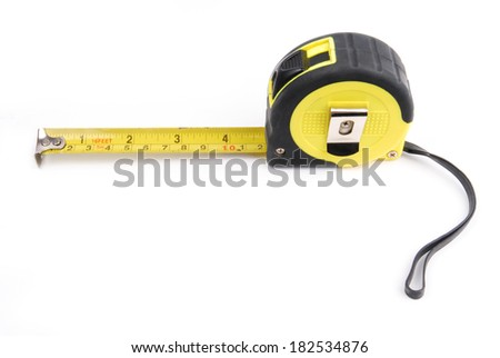 measure isolated on white