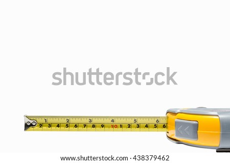 Measure on a white background - stock photo