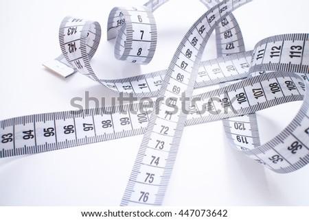 measure tape - stock photo