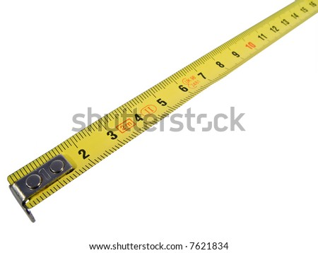measure tape in metal with metric system