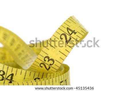 measure tape on white - stock photo