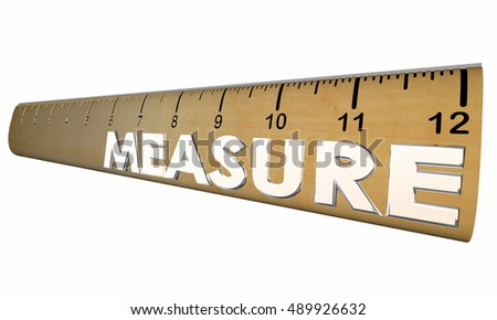 Measure Your Health Wellness Fitness Ruler 3d Illustration