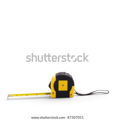 Measuring Construction roulette isolated on white background - stock photo
