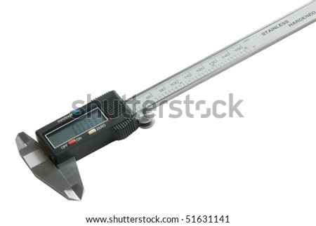 Measuring instrument isolated on white